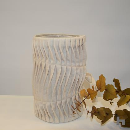 Textile Vase Waves -Natural